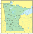 Counties Map of Minnesota - Mapsof.Net Map