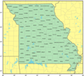 Counties Map of Missouri - Mapsof.Net Map