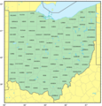 Counties Map of Ohio - Mapsof.Net Map