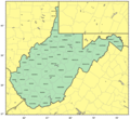 Counties Map of West Virginia - Mapsof.Net Map
