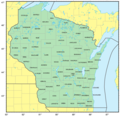 Counties Map of Wisconsin - Mapsof.Net Map