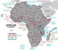Country Map of Africa - Mapsof.Net Map