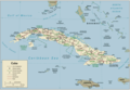 Cuba Political Map 1 - Mapsof.Net Map