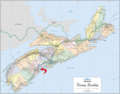 Directional Map of Nova Scotia - Mapsof.Net Map