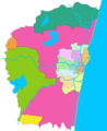 Districts Map of Chennai - Mapsof.Net Map