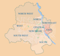 Districts Map of Delhi - Mapsof.Net Map