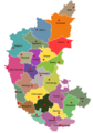 Districts of Karnataka - Mapsof.Net Map