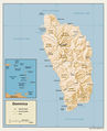 Dominica Relief Map - Mapsof.Net Map