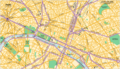 Downtown Map of Paris - Mapsof.Net Map