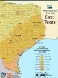 East Texas Plant Hardiness Zone Map - Mapsof.Net Map