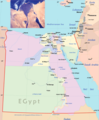 Egypt Political Map - Mapsof.Net Map