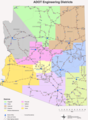 Engineering Districts Arizona - Mapsof.Net Map