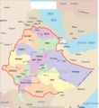 Ethiopia Political Map - Mapsof.Net Map
