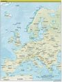 Europe Continent Physical Map - Mapsof.Net Map