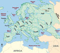 Europe Major Rivers Map - Mapsof.Net Map