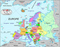 European Caountries Map - Mapsof.Net Map