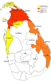 Extent of Territorial Control In Sri Lanka - Mapsof.net