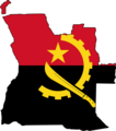 Flag Map of Angola - Mapsof.net