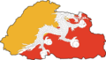 Flag Map of Bhutan - Mapsof.Net Map