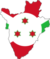 Flag Map of Burundi - Mapsof.Net Map