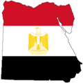 Flag Map of Egypt - Mapsof.net