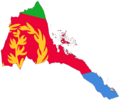 Flag Map of Eritrea - Mapsof.Net Map
