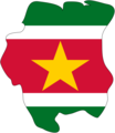 Flag Map of Suriname - Mapsof.net