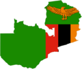 Flag Map of Zambia - Mapsof.net