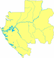 Gabon Blank With Rivers - Mapsof.net