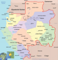 Gabon Political Map - Mapsof.Net Map