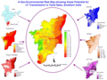 Geographic Environmental Risk Map Tamil Nadu - Mapsof.Net Map