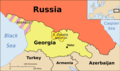 Georgia, Ossetia, Russia And Abkhazia 1 - Mapsof.Net Map
