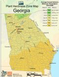 Georgia Plant Hardiness Zone Map - Mapsof.Net Map