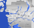 Greater Vancouver Area - Mapsof.Net Map
