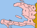 Haiti Departments Numbered - Mapsof.net