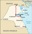 Highway of Death  Map of Kuwait (lithuanian) - Mapsof.net