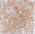 Historical Map Milan (1913) - Mapsof.Net Map