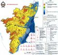 Hydrographic Map of Tamil Nadu - Mapsof.Net Map
