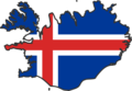 Iceland Flag Map - Mapsof.Net Map