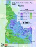 Idaho Plant Hardiness Zone Map - Mapsof.Net Map