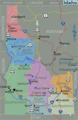 Idaho Regions Map - Mapsof.Net Map