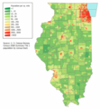 Illinois Population Map - Mapsof.net