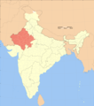 India Rajasthan Locator Map - Mapsof.Net Map
