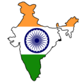 India Flag Map - Mapsof.Net Map