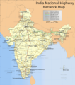 India National Roads Map - Mapsof.Net Map