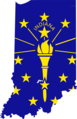 Indiana Flag Map - Mapsof.net