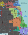Integrated Chicago Districts Map - Mapsof.Net Map