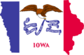 Iowa Flag Map - Mapsof.Net Map