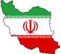 Iran Flag Map - Mapsof.Net Map