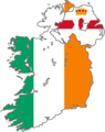 Ireland Flag Map - Mapsof.Net Map
